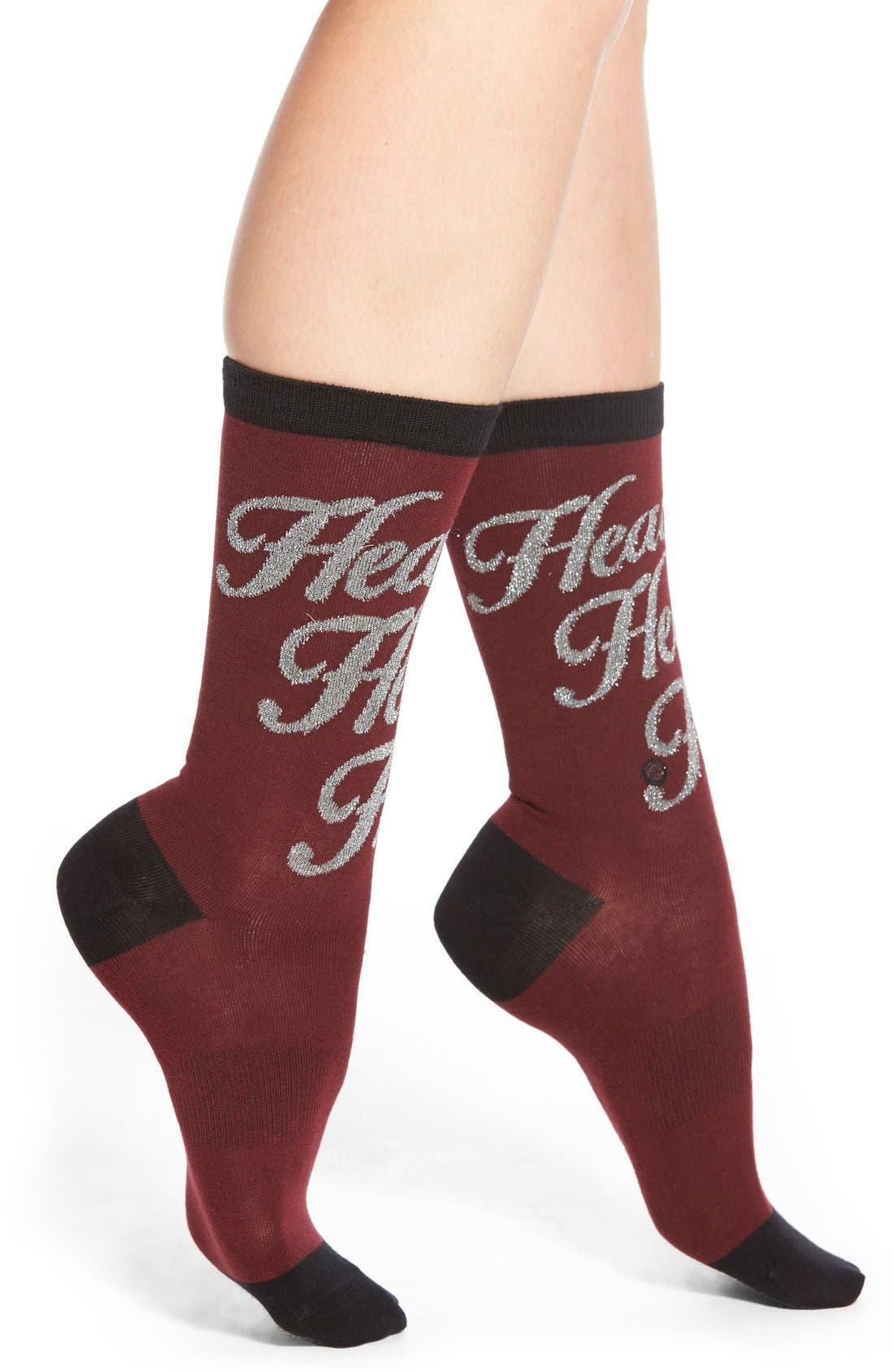 Alternate Image 1 Selected - Stance x Rihanna 'Heaux Heaux Heaux' Metallic Crew Socks
