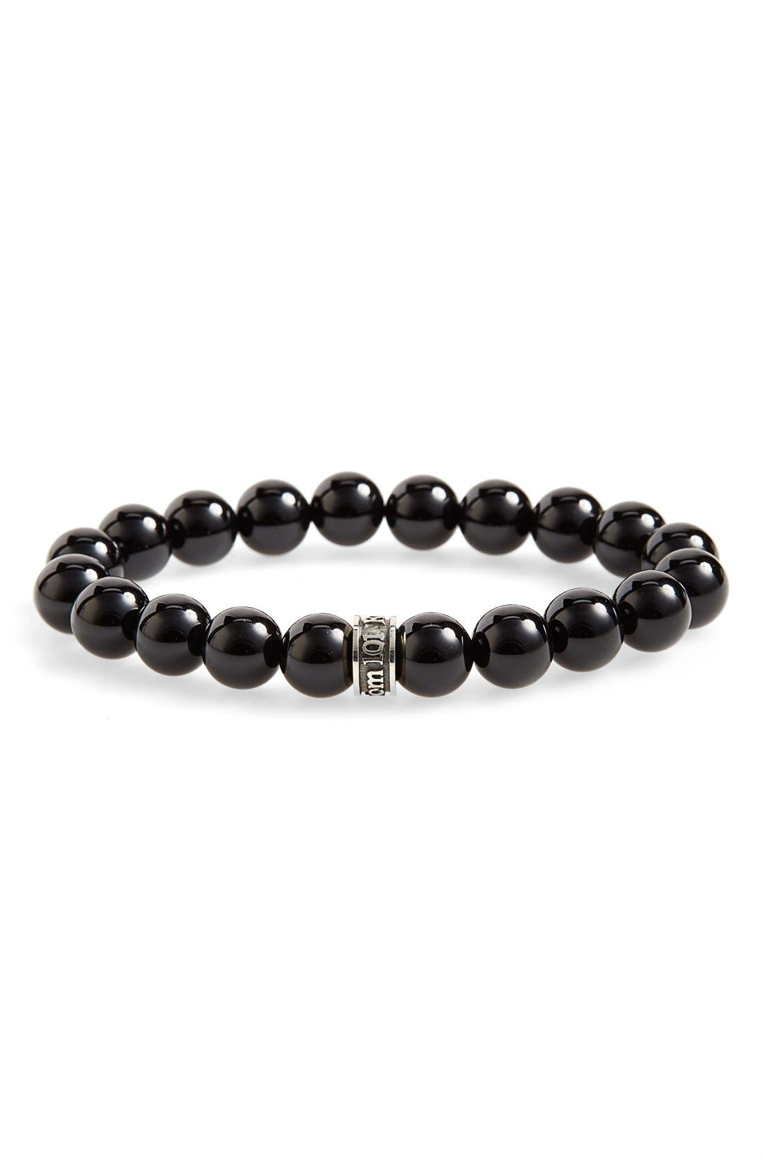 ROOM101 Polished Agate Bead Bracelet