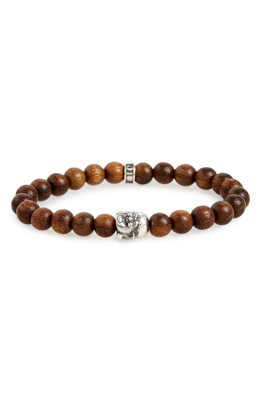 ROOM101 Wood Buddha Bead Bracelet