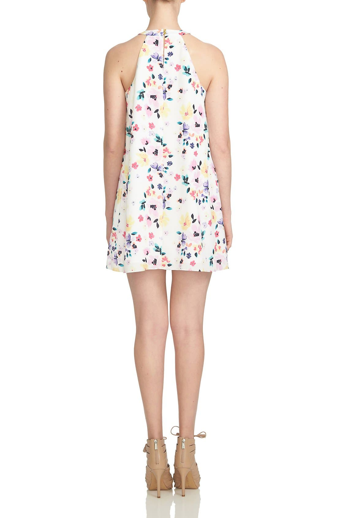Alternate Image 2  - CeCe by Cynthia Steffe 'Demure Floral' Print Sleeveless Shift Dress