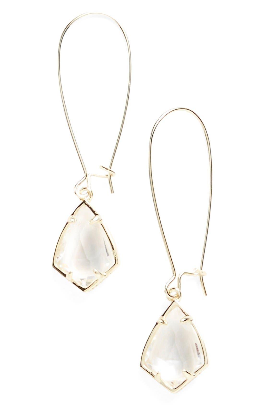 Alternate Image 1 Selected - Kendra Scott 'Carrine' Semiprecious Stone Drop Earrings
