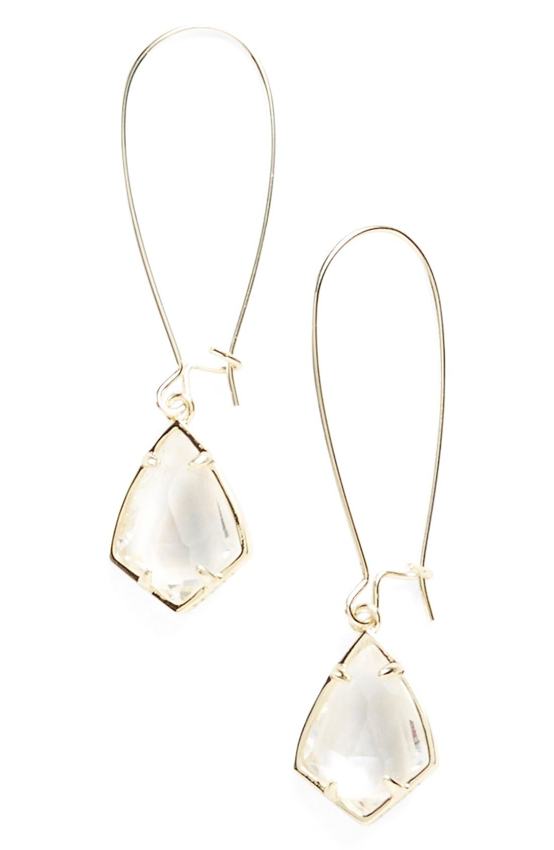 Main Image - Kendra Scott 'Carrine' Semiprecious Stone Drop Earrings