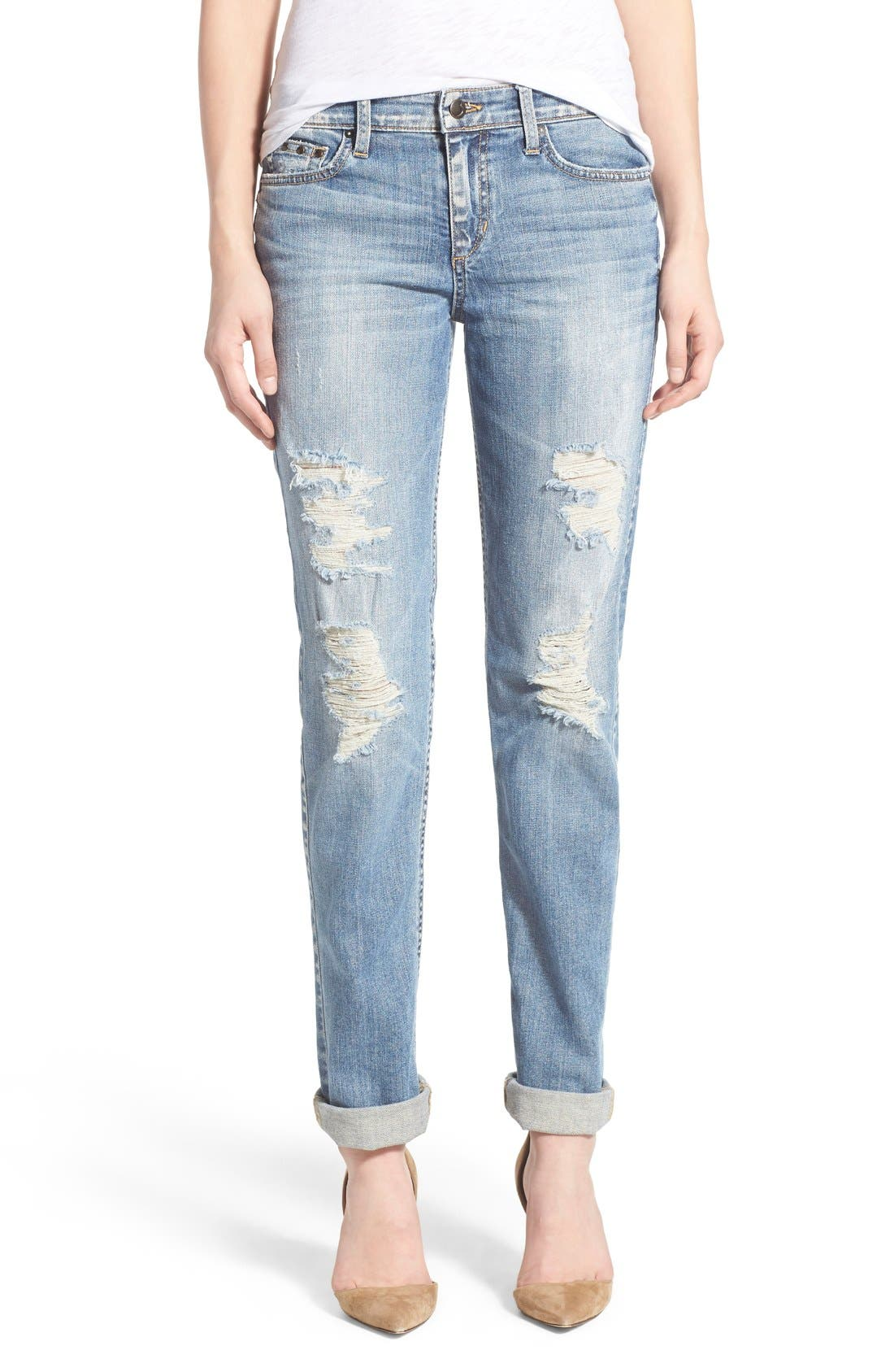 'Collector's - Ex Lover' Straight Leg Jeans,                             Main thumbnail 1, color,                             Bev