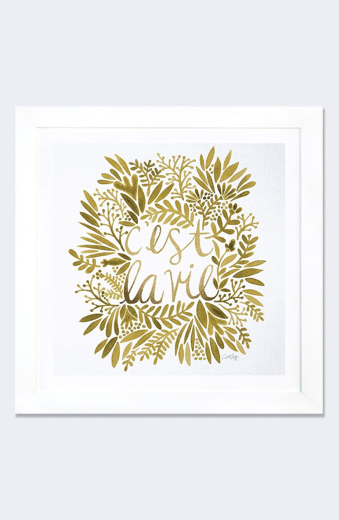 'C'est la Vie' Framed Fine Art Print,                         Main,                         color, White