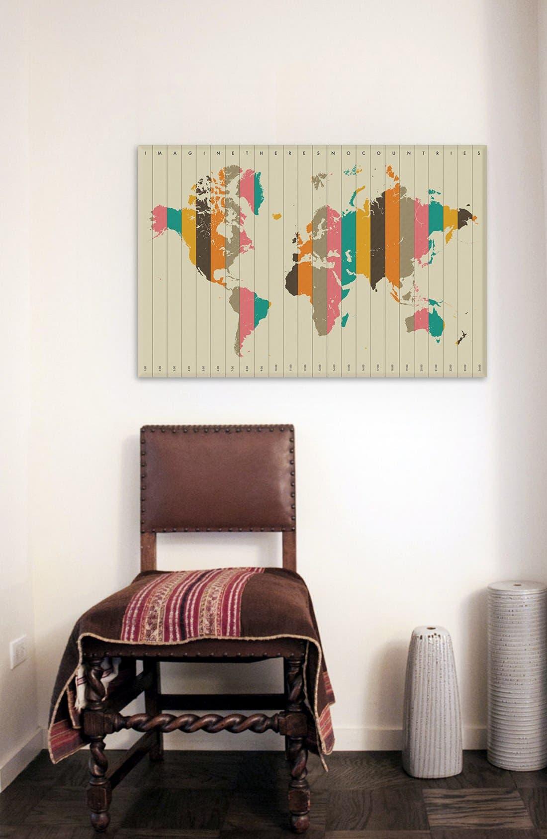 Alternate Image 2  - iCanvas 'Time Zones' Giclée Print Canvas Art