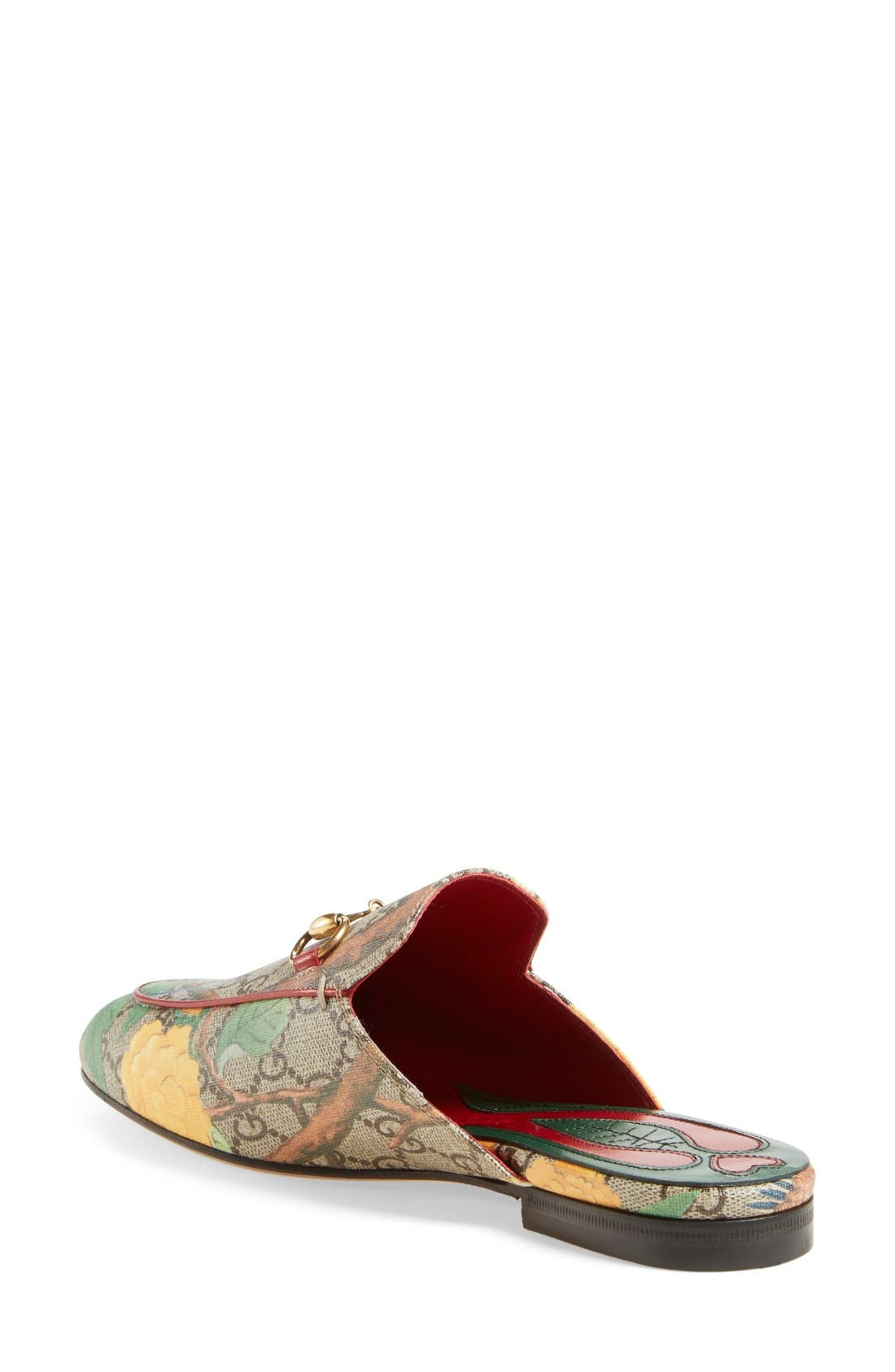 Alternate Image 2  - Gucci 'Princetown' Floral Print Mule Loafer (Women)