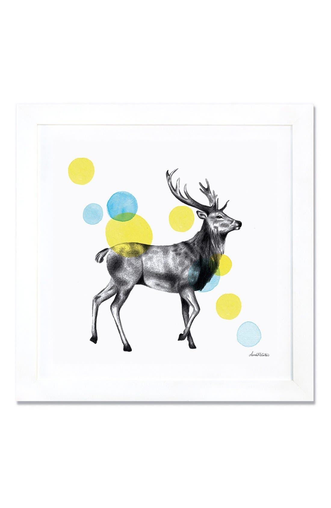 'Sketchbook - Stag' Giclée Print Framed Canvas Art,                         Main,                         color, White