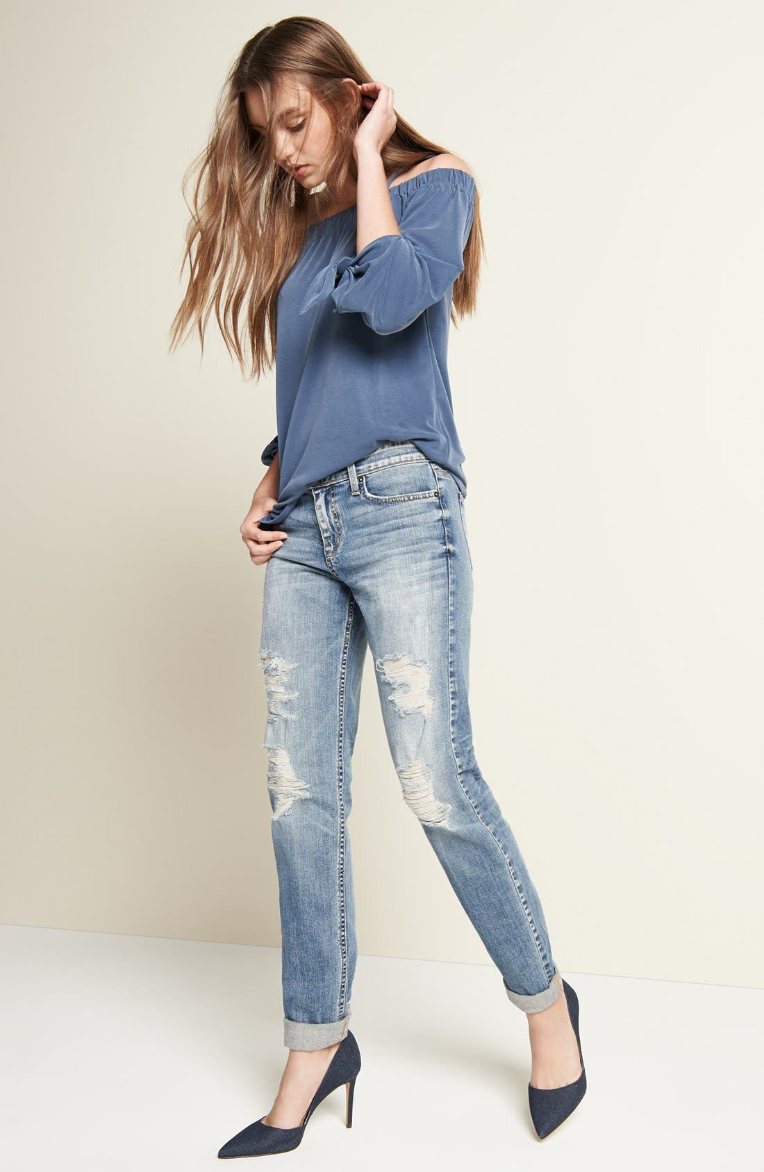 'Collector's - Ex Lover' Straight Leg Jeans,                             Alternate thumbnail 2, color,