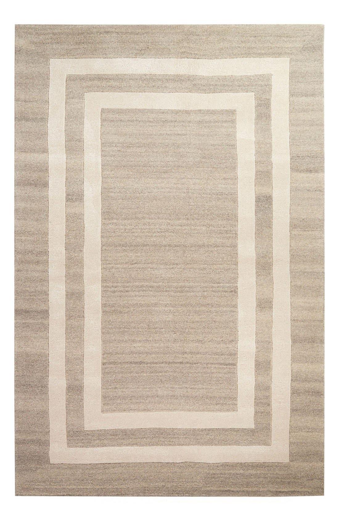 kate spade new york 'gramercy - border pattern' wool blend rug