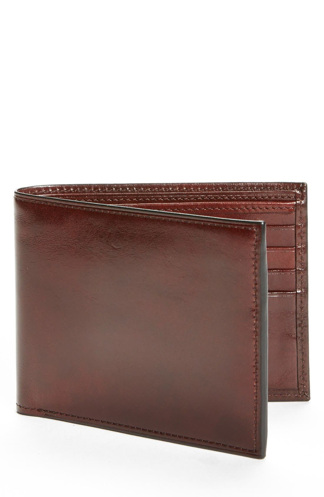Bosca ID Flap Leather Wallet