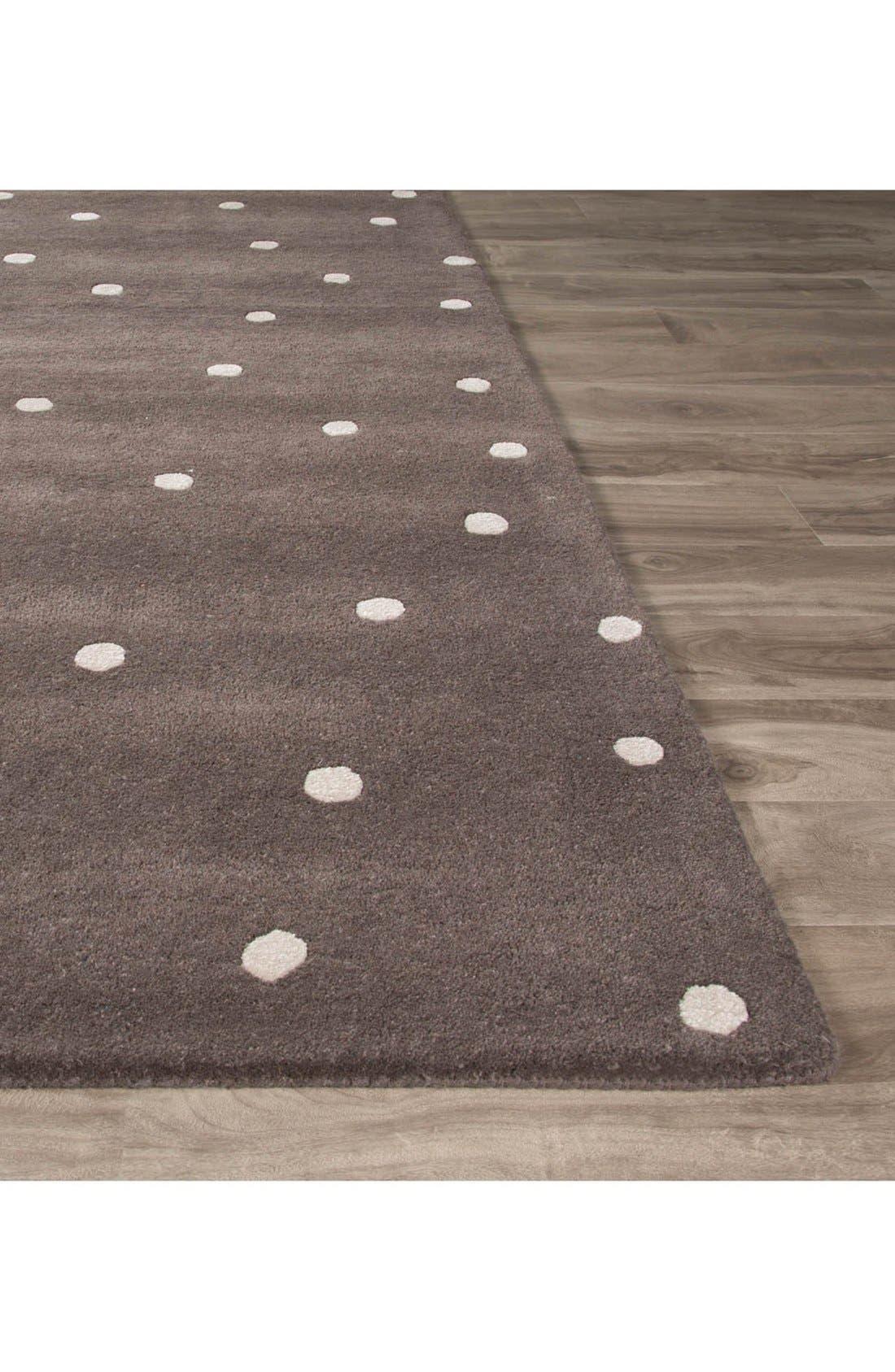 'gramercy - dots' rug,                             Alternate thumbnail 2, color,                             Grey/ Ivory