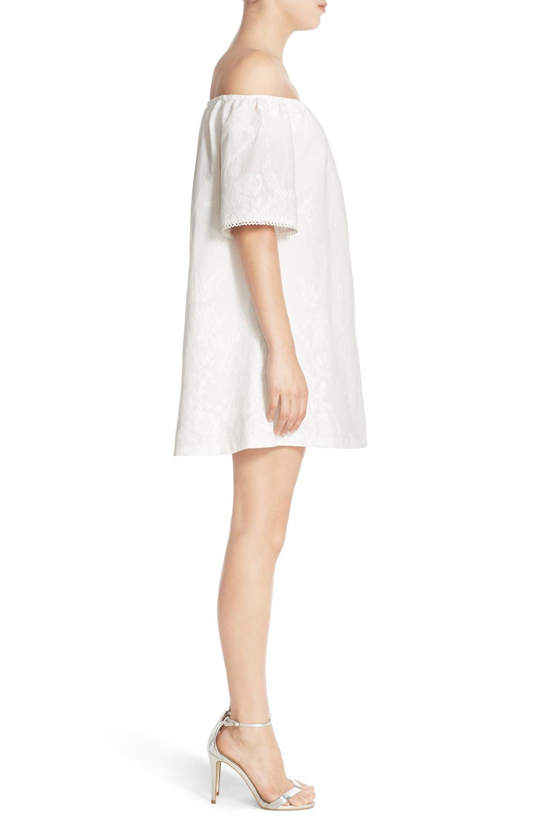 Alternate Image 3  - BB Dakota 'Manda' Off the Shoulder Cotton Shift Dress