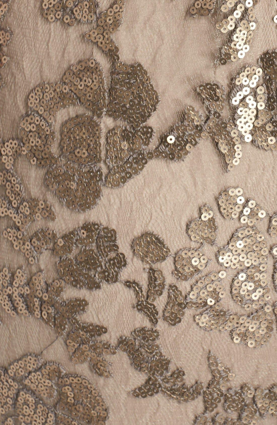 Alternate Image 5  - Tadashi Shoji Sequin Lace Gown (Regular & Petite)