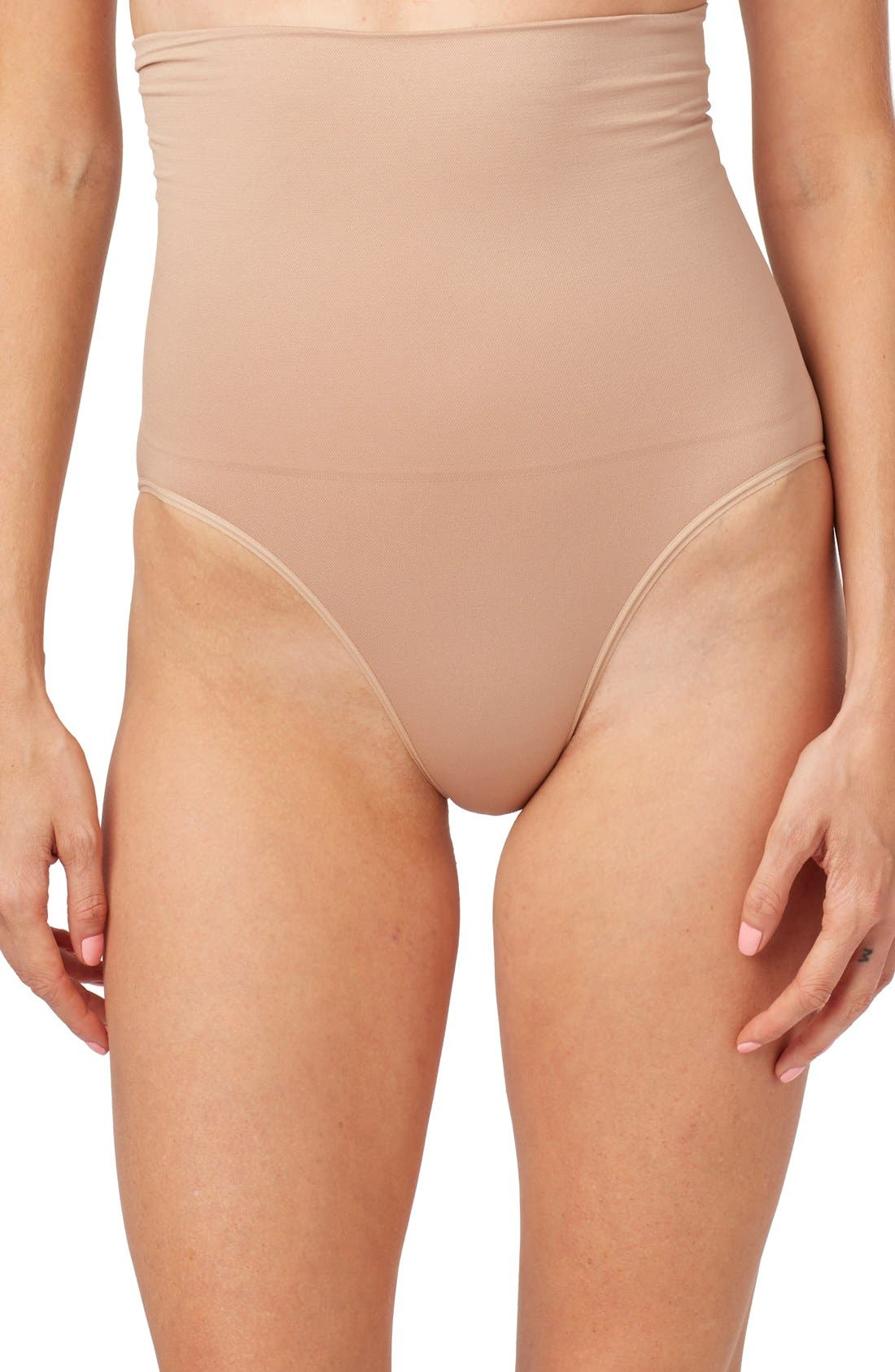 Waist Control Postpartum Brief,                         Main,                         color, Nude