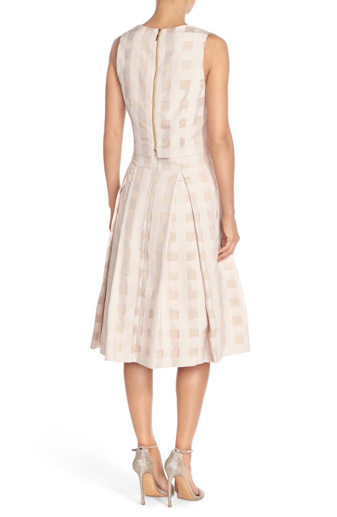 Alternate Image 2  - Eliza J Check Satin Two-Piece Dress