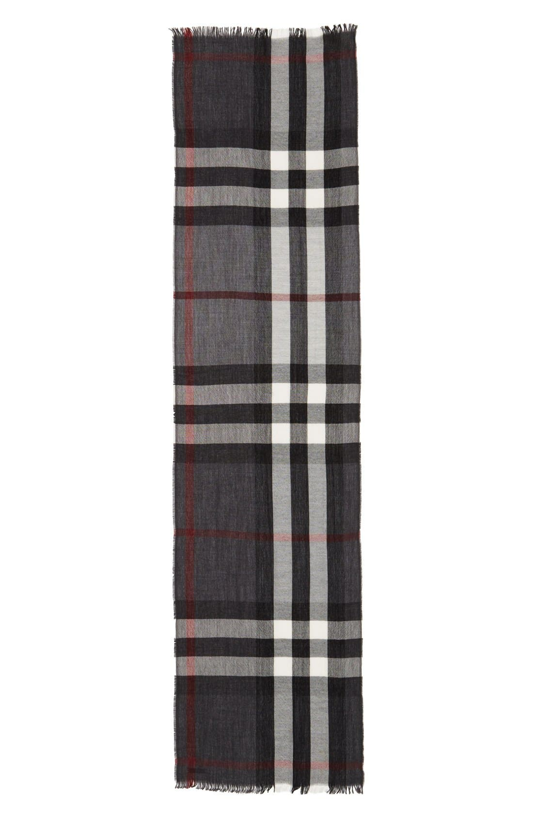 Alternate Image 2  - Burberry Check Wool & Cashmere Scarf