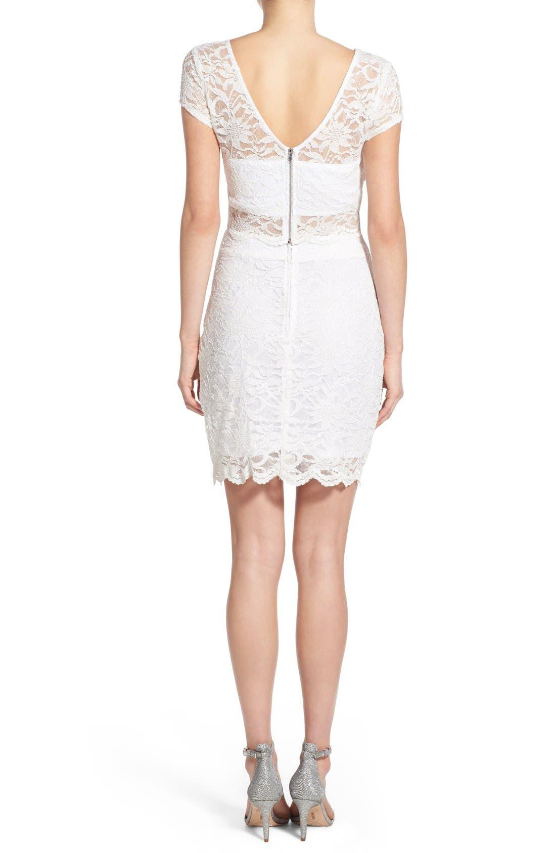 Alternate Image 2  - Speechless Glitter Lace Two-Piece Sheath Dress
