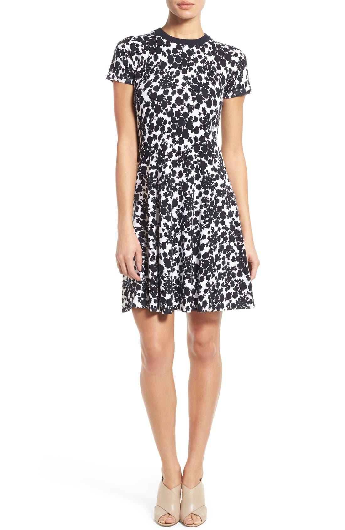 Alternate Image 1 Selected - MICHAEL Michael Kors 'Gemma' Print Fit & Flare Sweater Dress