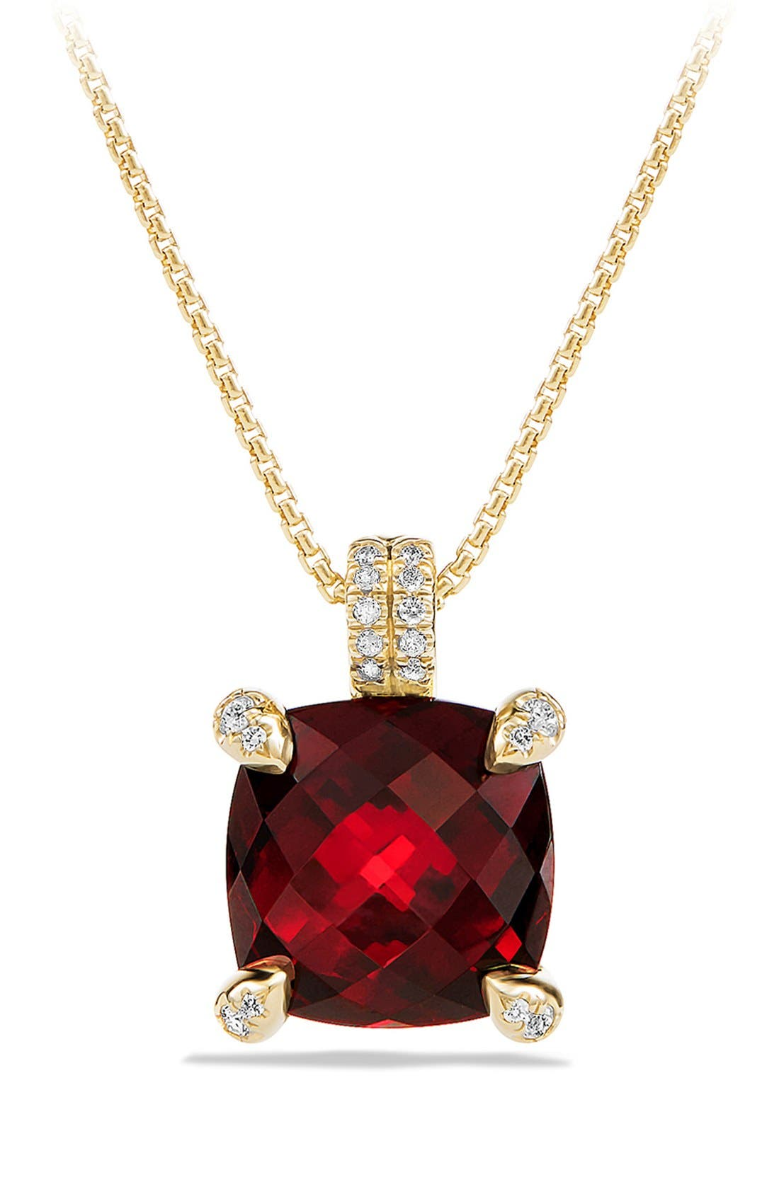 David Yurman 'Châtelaine' Pendant Necklace with Diamonds