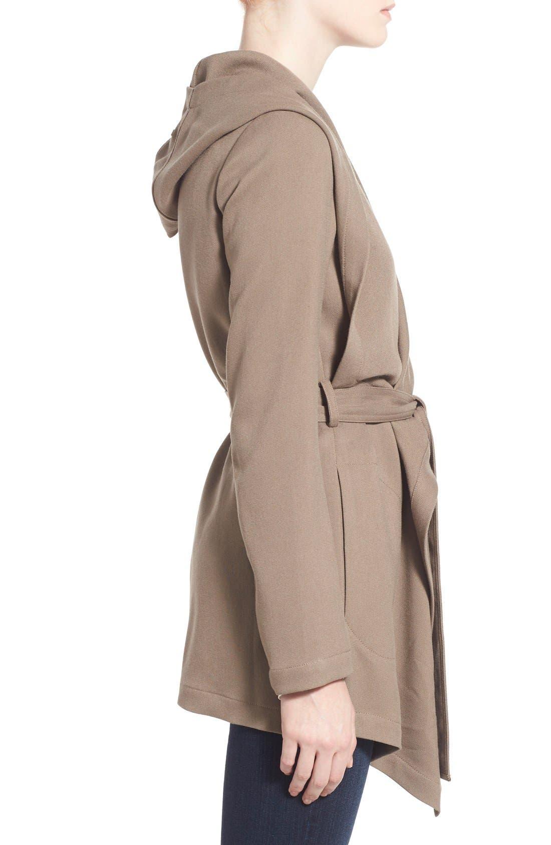 Alternate Image 3  - Soia & Kyo Hip Length Drapey Hooded Wrap Coat