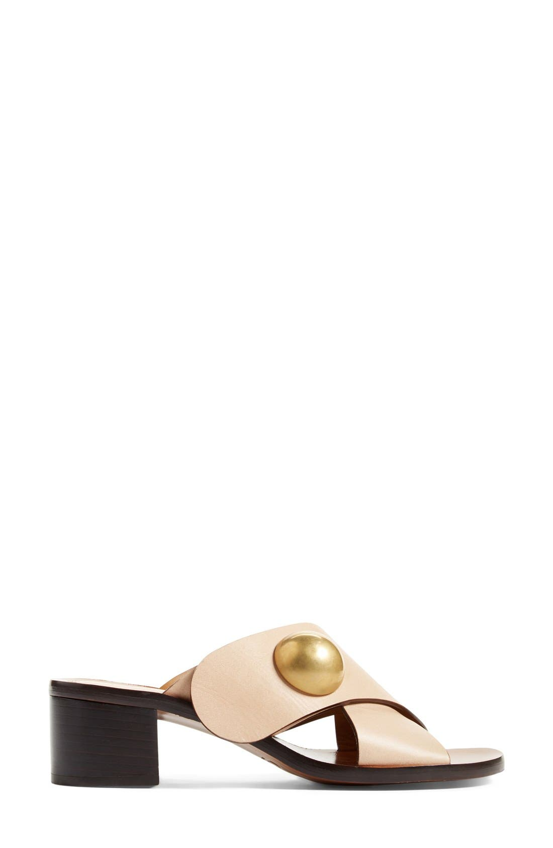 Alternate Image 4  - Chloé Block Heel Slide Sandal (Women)