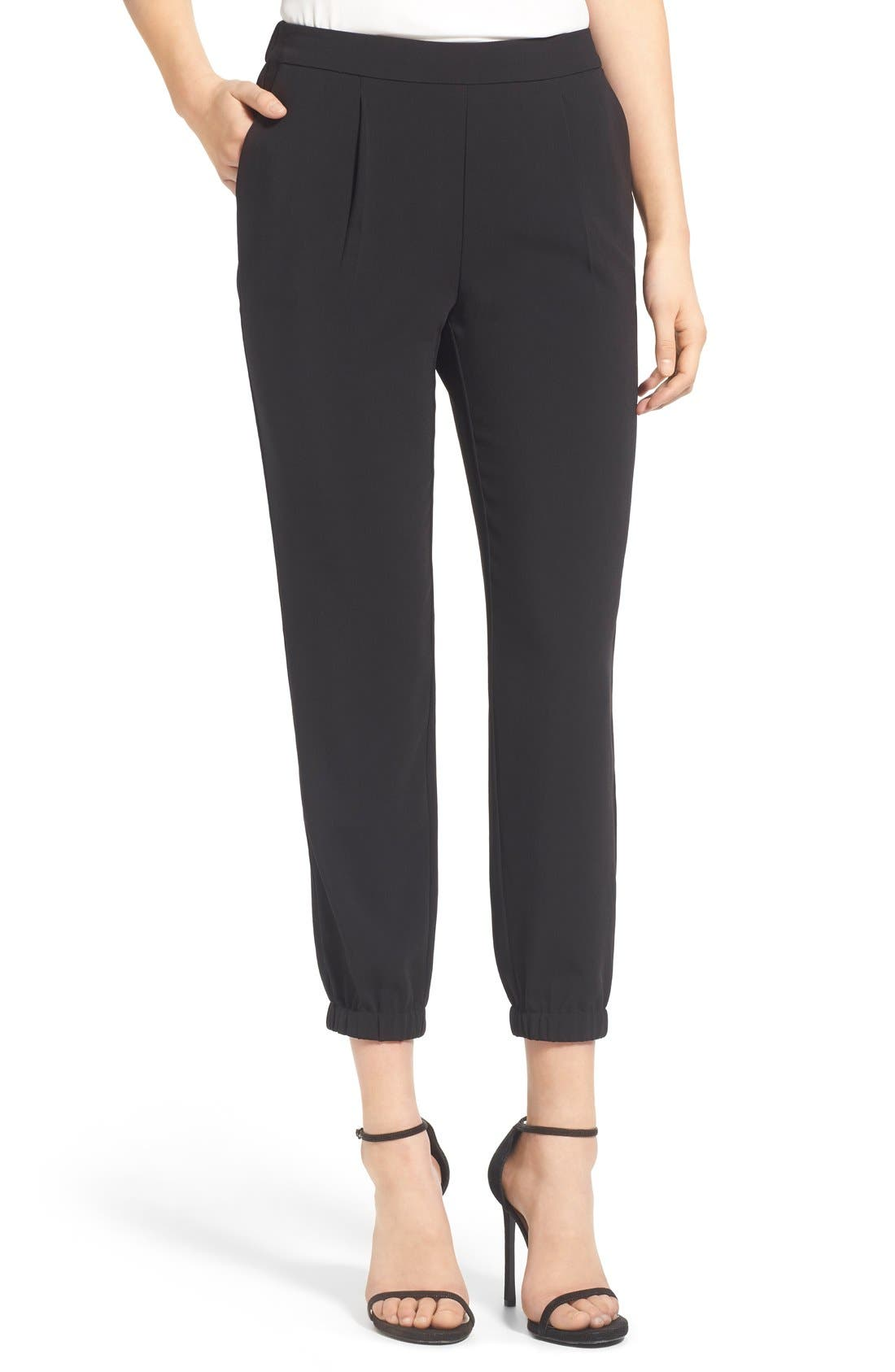 Alternate Image 1 Selected - Trouvé Stretch Crepe Jogger Pants