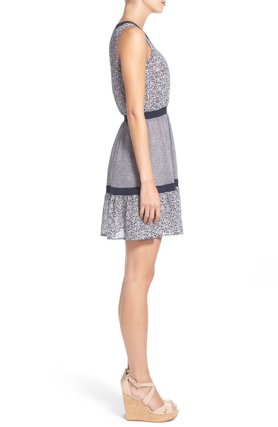 Alternate Image 3  - MICHAEL Michael Kors Mixed Print Sleeveless Georgette Fit & Flare Dress