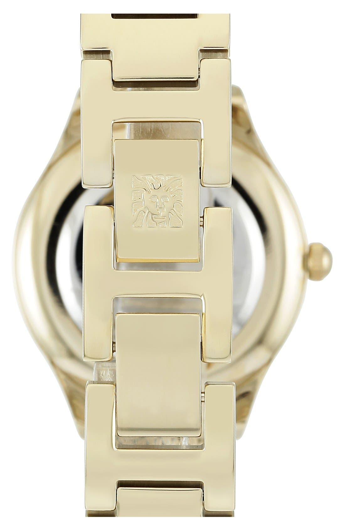 Mesh Strap Watch, 30mm,                             Alternate thumbnail 2, color,                             Gold/ Gold