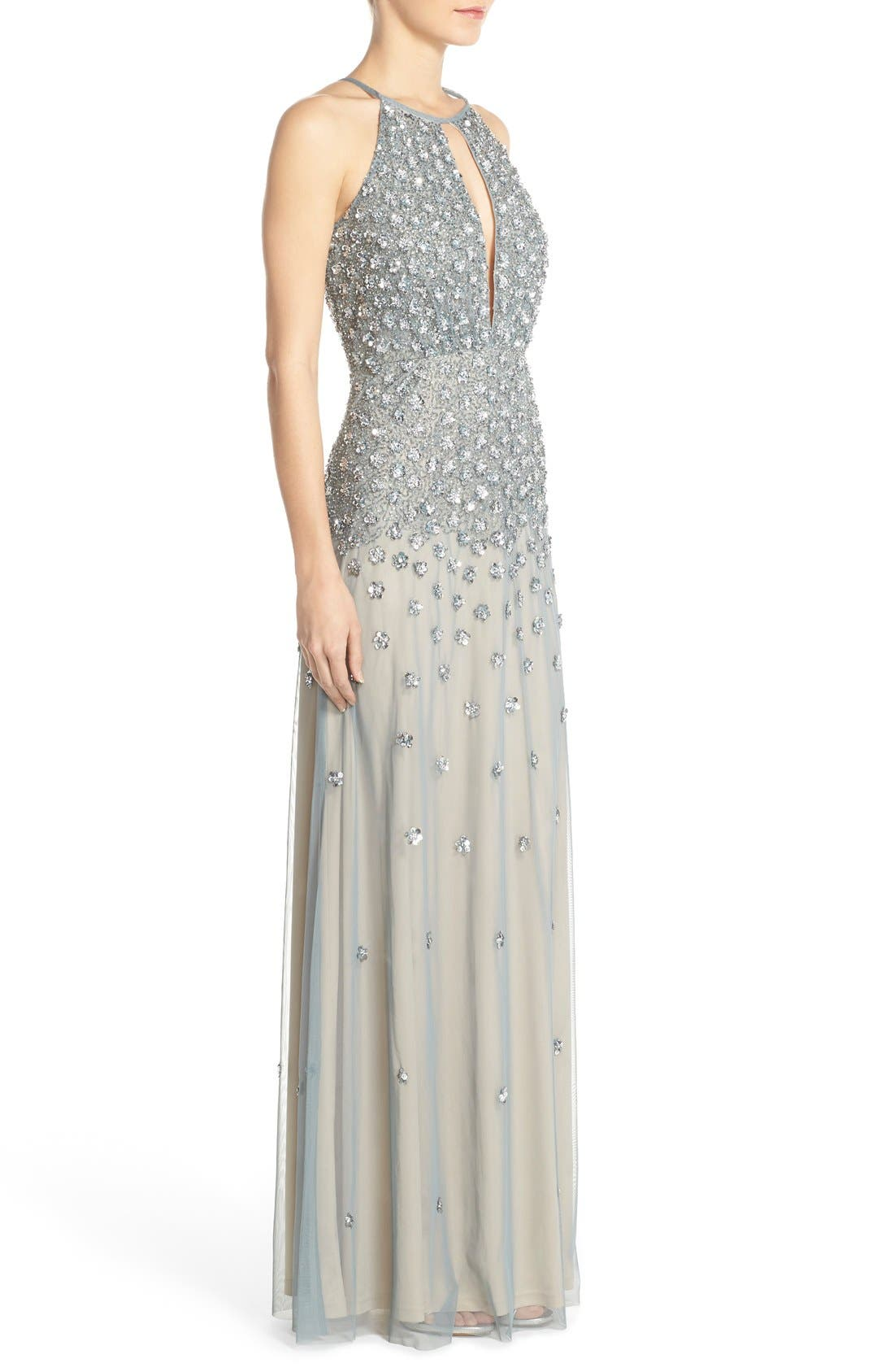 Alternate Image 3  - Adrianna Papell Embellished Tulle Column Gown