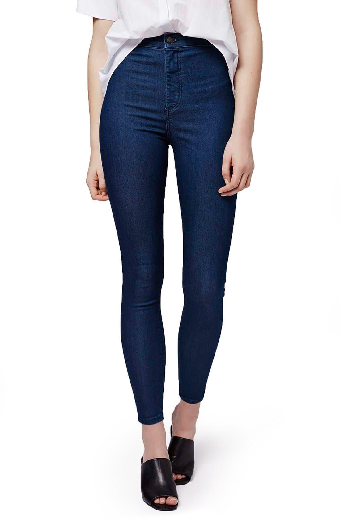 Alternate Image 1 Selected - Topshop 'Joni' Super Skinny Jeans (Petite)