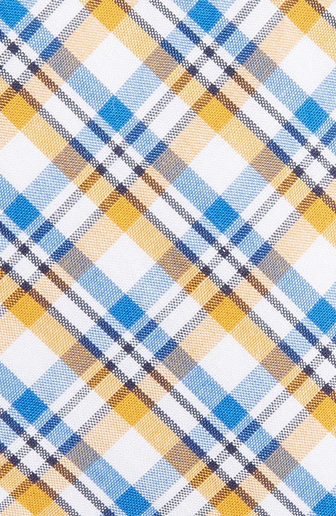 'Boomer' Plaid Cotton Tie,                             Alternate thumbnail 2, color,                             Yellow