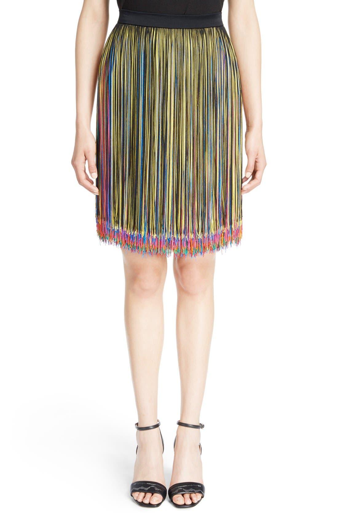 Alternate Image 1 Selected - Christopher Kane Rainbow Fringe Skirt
