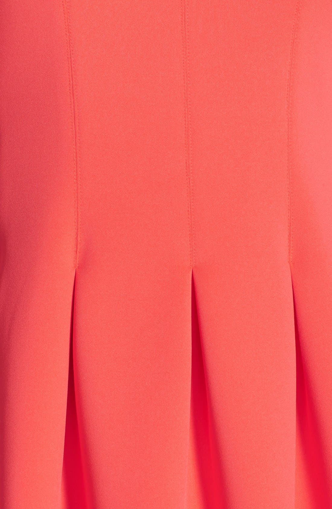 Alternate Image 5  - Ivanka Trump Pleated Scuba A-Line Dress