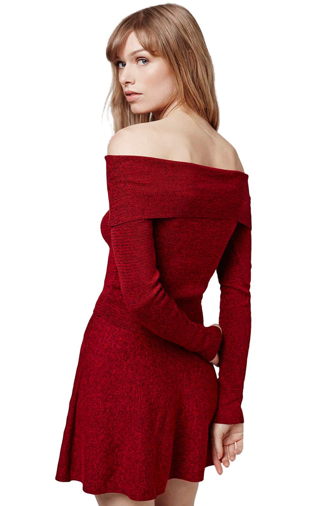Alternate Image 3  - Topshop Off the Shoulder Long Sleeve Top