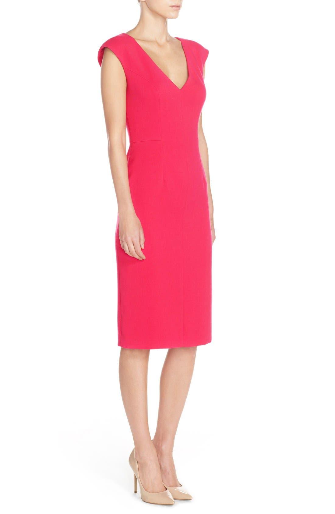 Alternate Image 3  - Eliza J Crepe Sheath Dress (Regular & Petite)