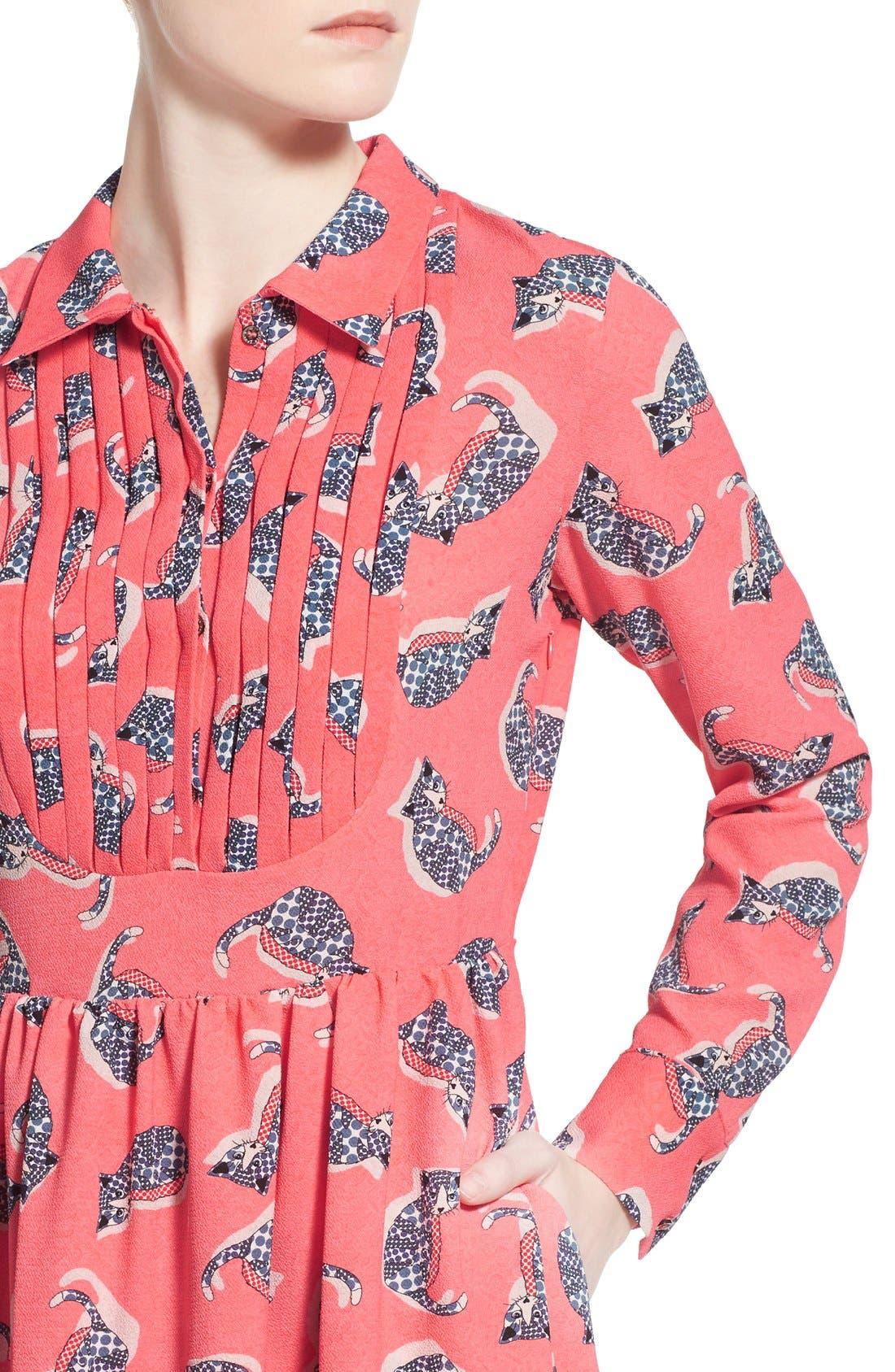 Alternate Image 4  - Paul & Joe Sister 'Pauline' Cat Print Shirtdress