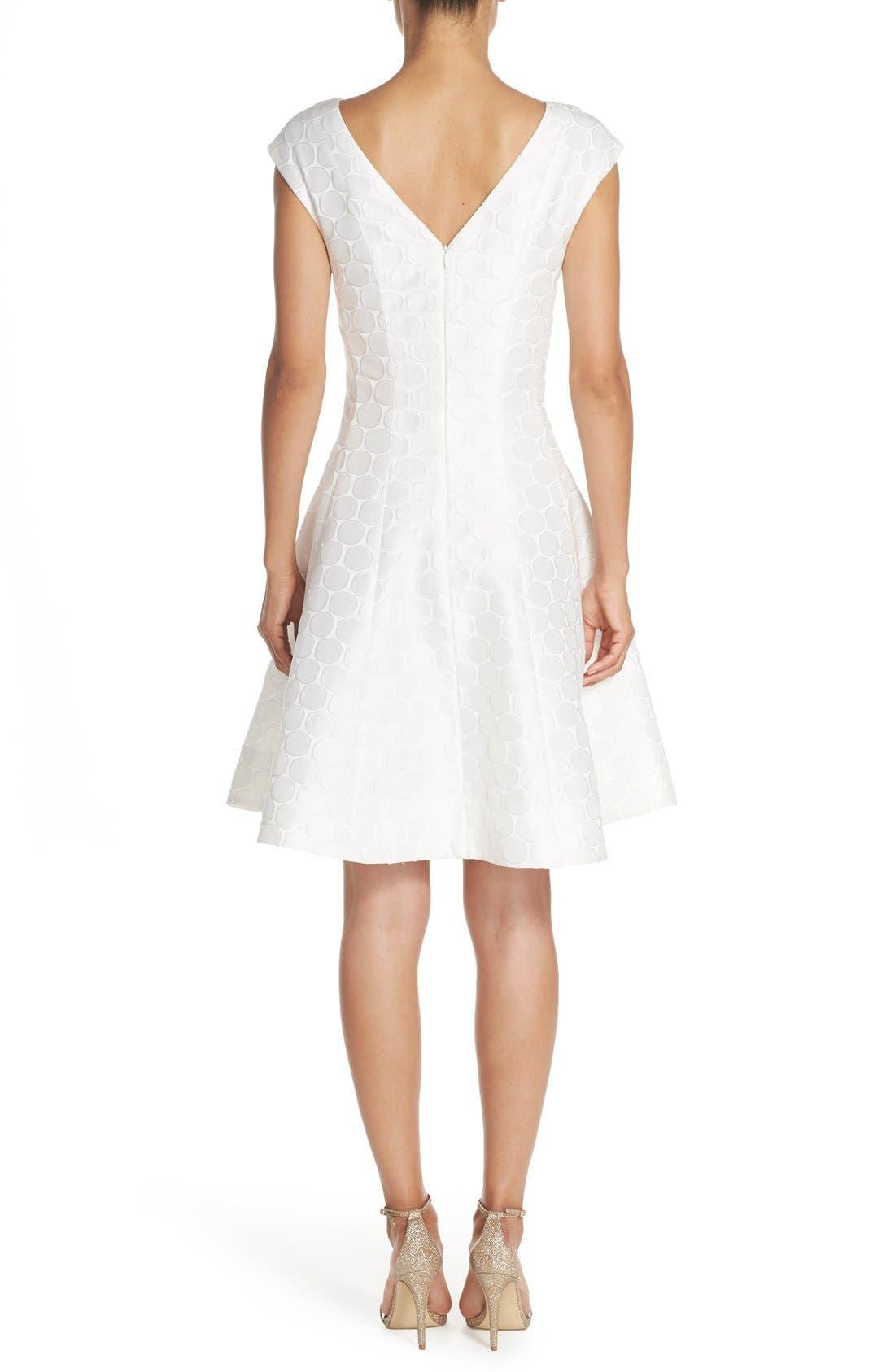 Alternate Image 2  - Julia Jordan Jacquard Fit & Flare Dress