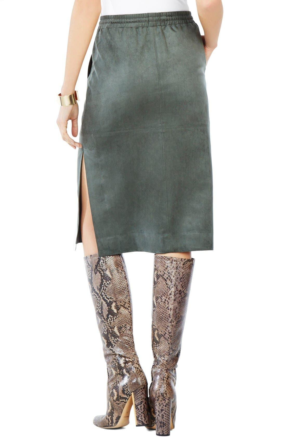 Alternate Image 2  - BCBGMAXAZRIA 'Zandra' Faux Suede Pencil Skirt