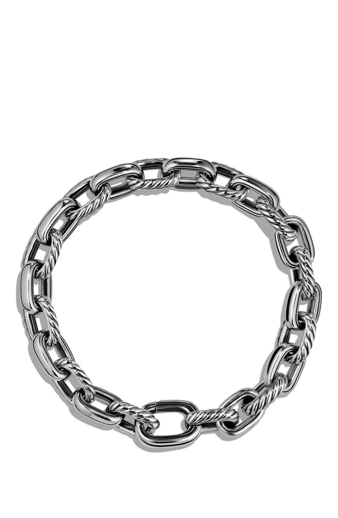 'Cable Classics' Oval Link Bracelet,                             Alternate thumbnail 2, color,                             Silver