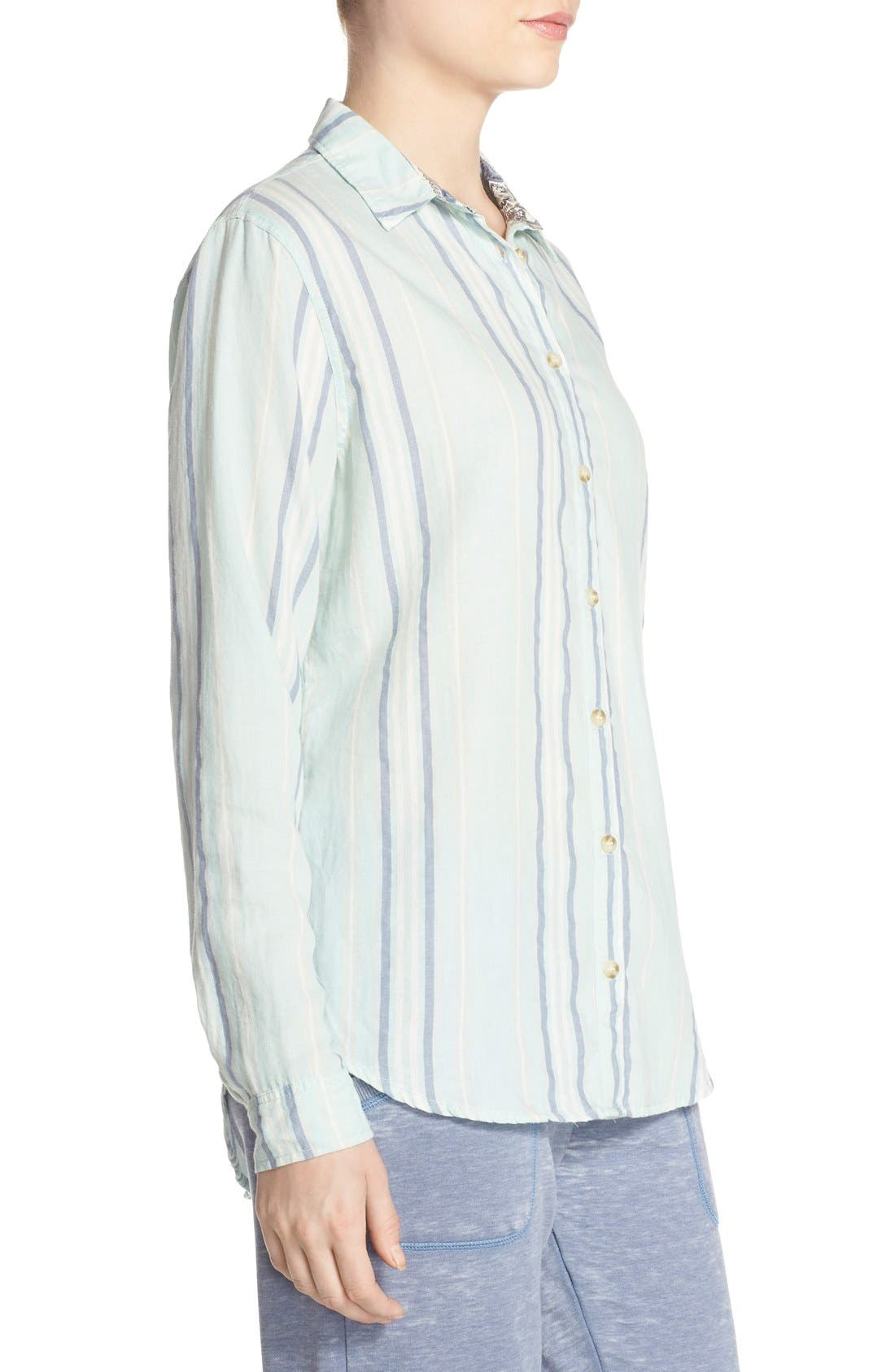 Alternate Image 3  - PJ Salvage Stripe Cotton Twill Top