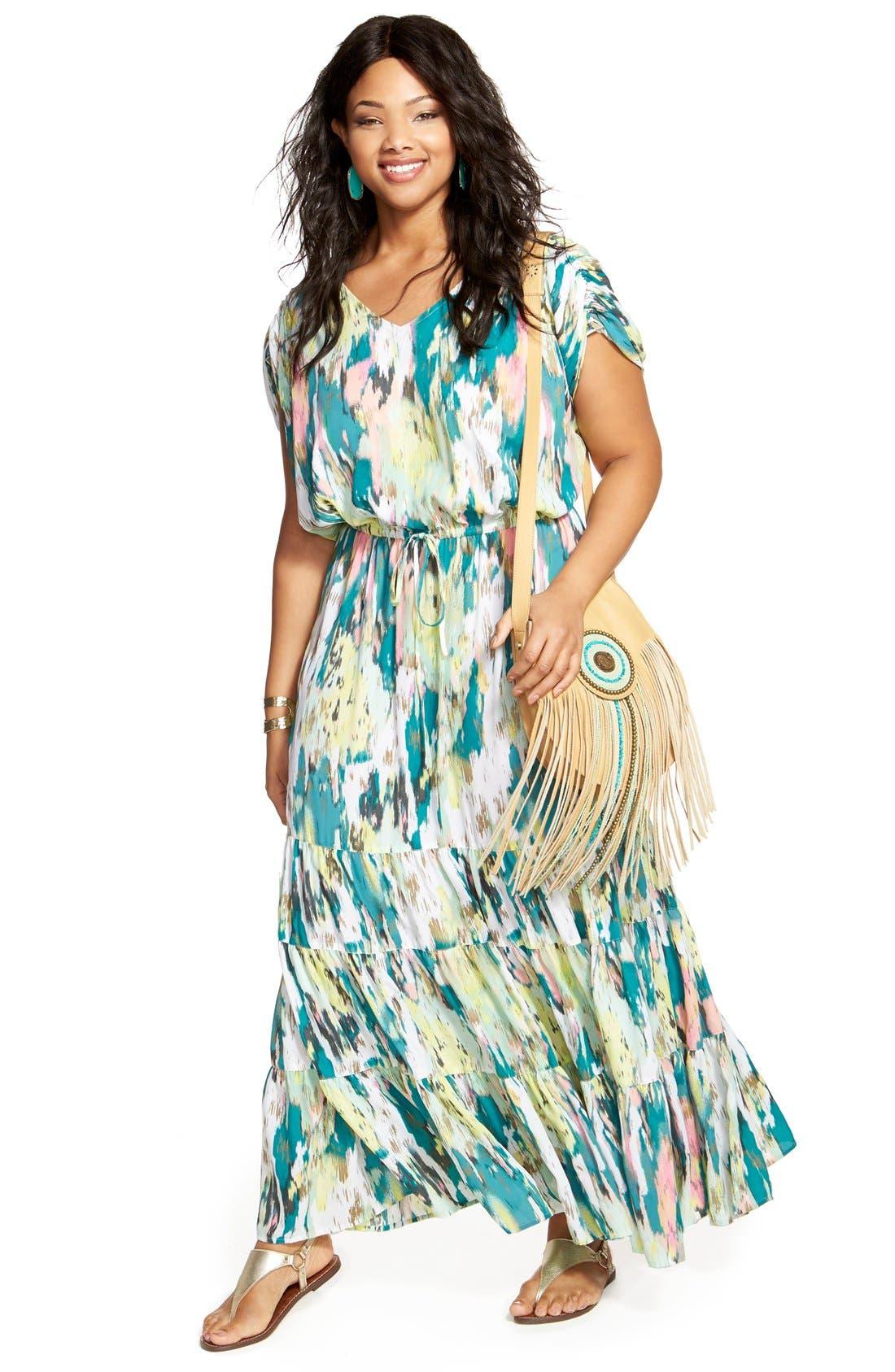 Melissa McCarthy Seven7 Maxi Dress & Accessories (Plus Size)