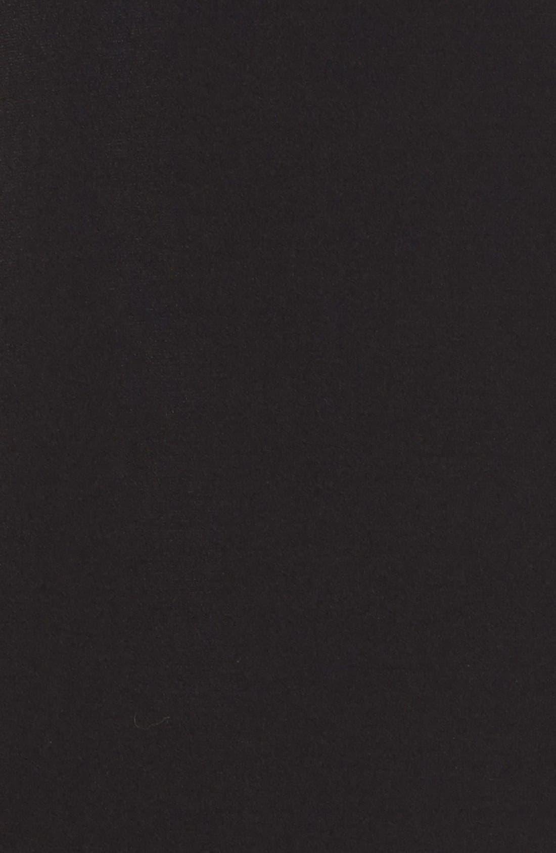Studded Asymmetrical Shift Dress,                             Alternate thumbnail 5, color,                             Black/ Gold