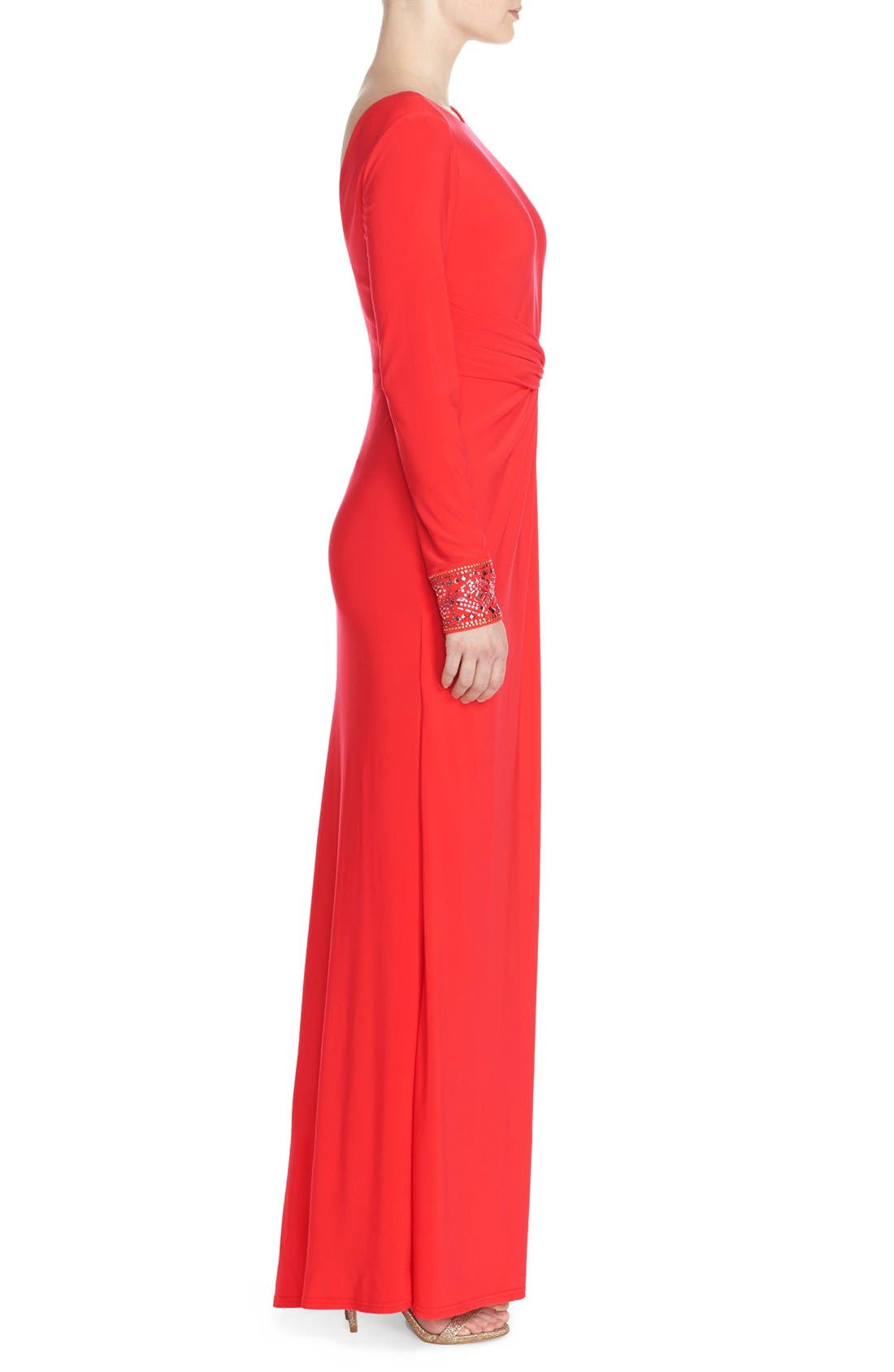 Alternate Image 3  - Vince Camuto Studded Jersey Fit & Flare Gown