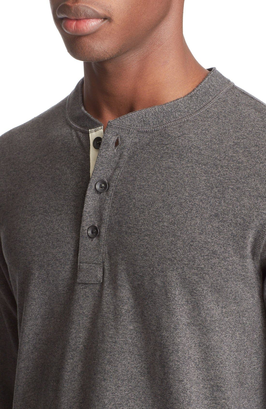 Standard Issue Henley,                             Alternate thumbnail 4, color,                             Pewter