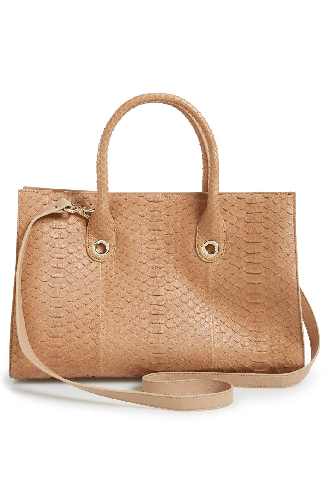 Alternate Image 3  - Jimmy Choo 'Riley' Genuine Python Tote