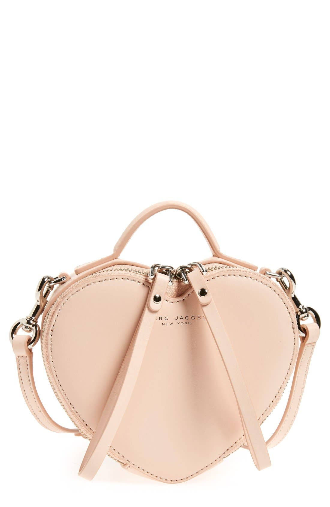 Main Image - MARC JACOBS Heart Leather Crossbody Bag