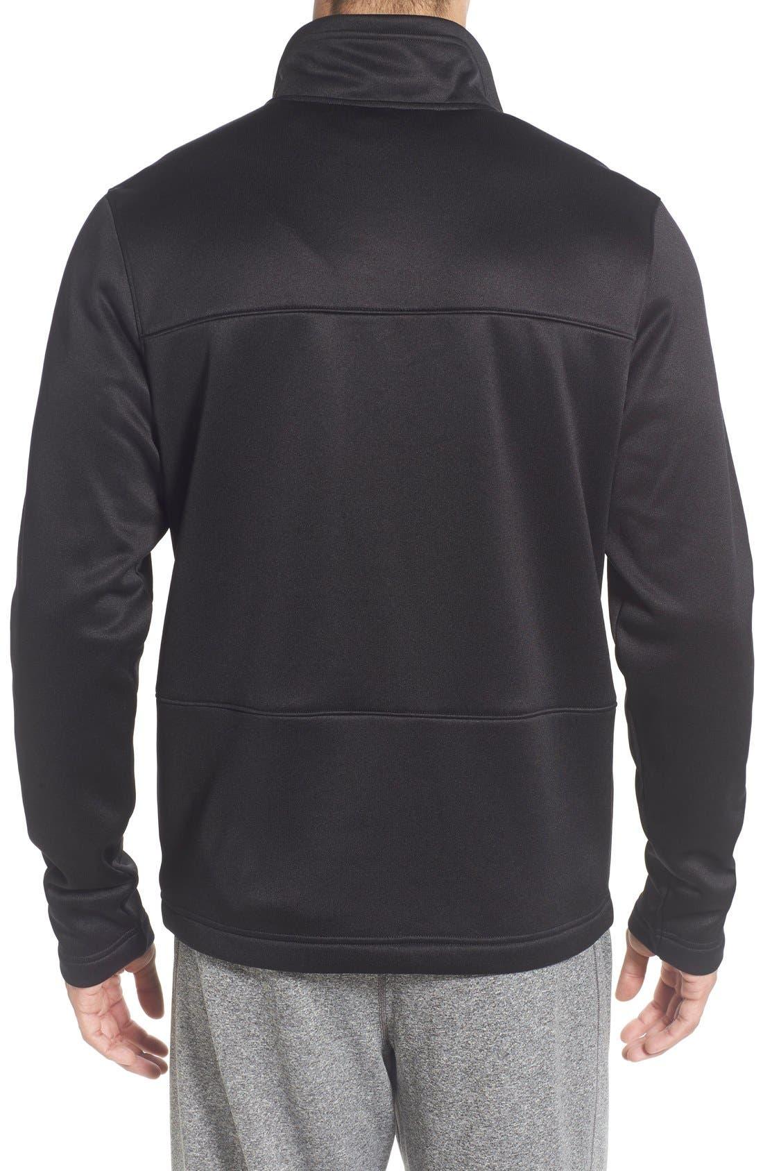 'Momentum' Fleece Jacket,                             Alternate thumbnail 2, color,                             Tnf Black