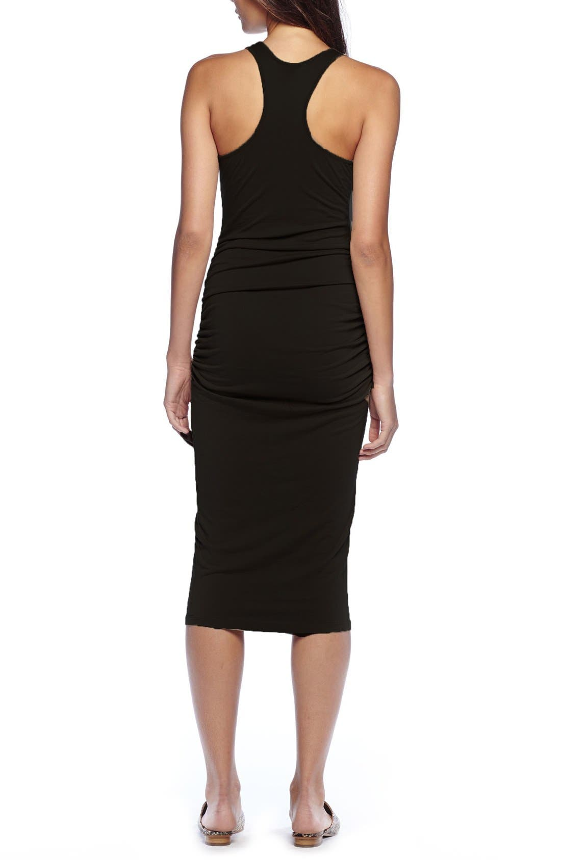 Alternate Image 3  - Michael Stars Racerback Midi Dress (Regular & Petite)