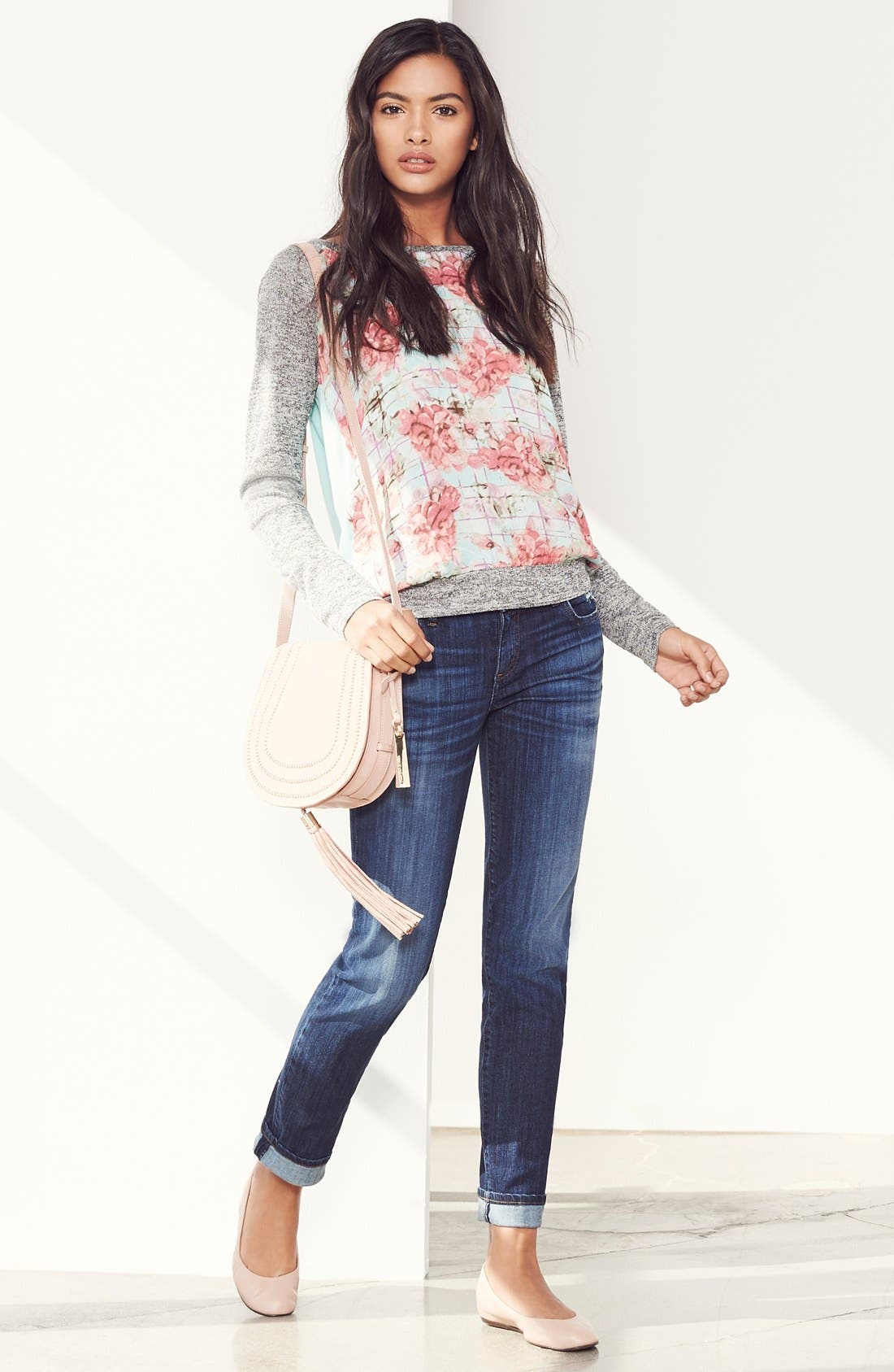 'Catherine' Stretch Boyfriend Jeans,                             Alternate thumbnail 2, color,