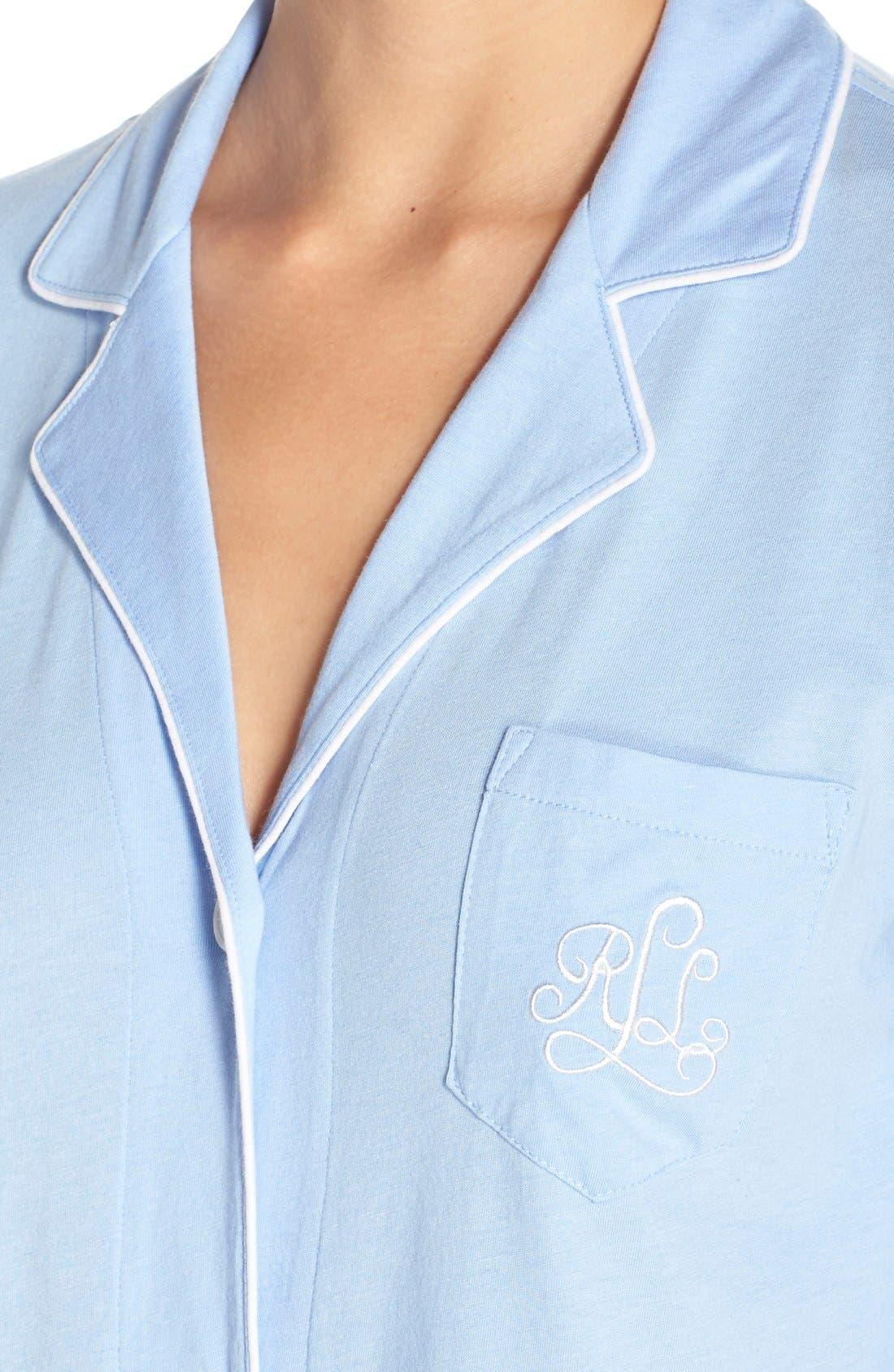 Alternate Image 4  - Lauren Ralph Lauren Knit Nightshirt (Online Only)
